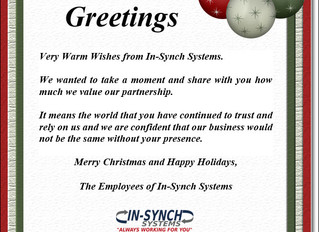 In-Synch RMS Newsletter - Q4, 2016