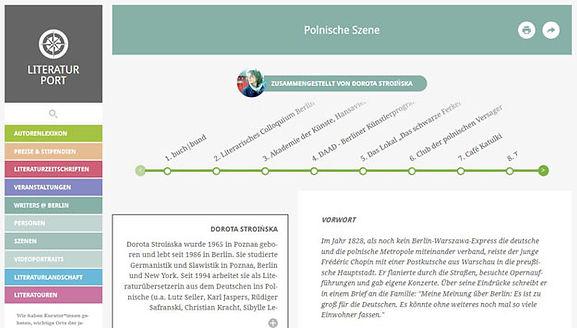 Polnische Szene auf literturport.de