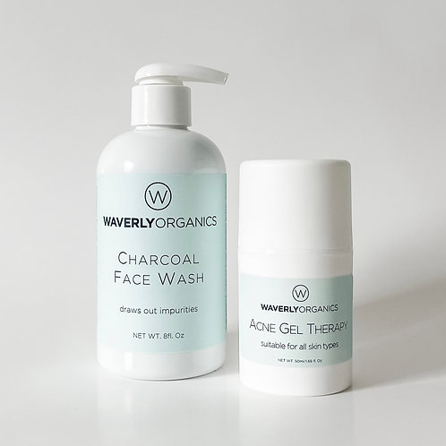 Charcoal Face Wash & Acne Gel Therapy