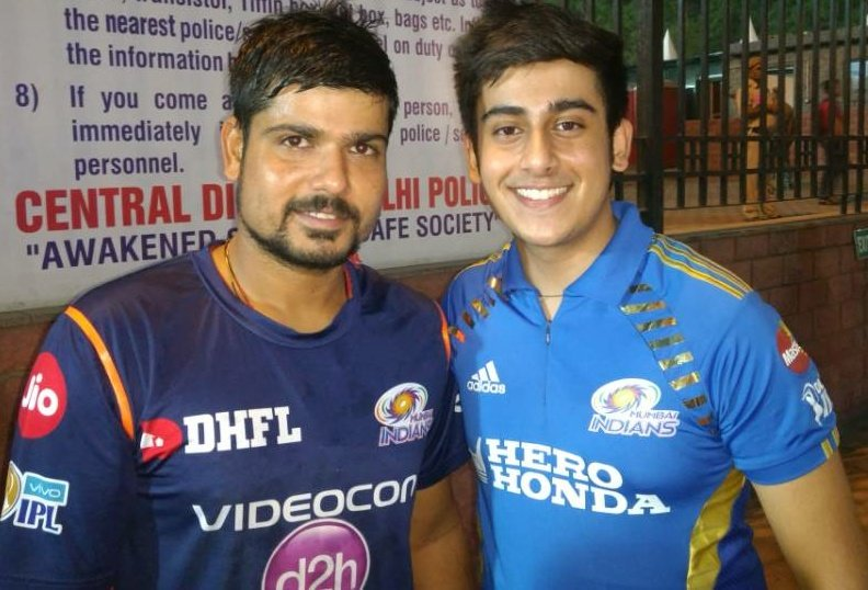 Abhinandan Kaul With Popular Indian Cricketer Karn Sharma
