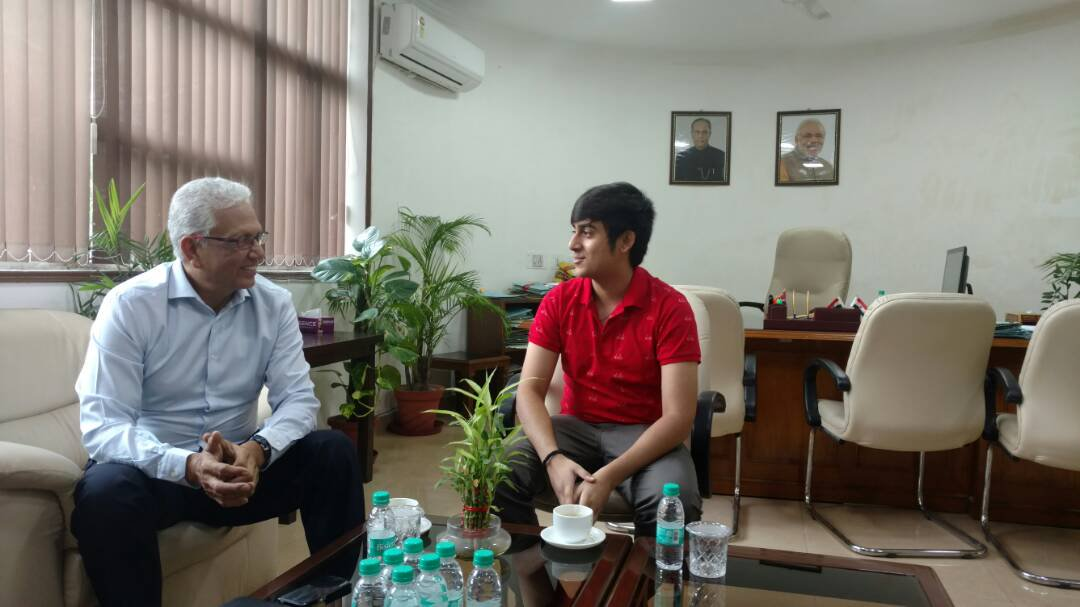 Abhinandan Kaul With Veteran Indian Cricketer Mohinder Amarnath