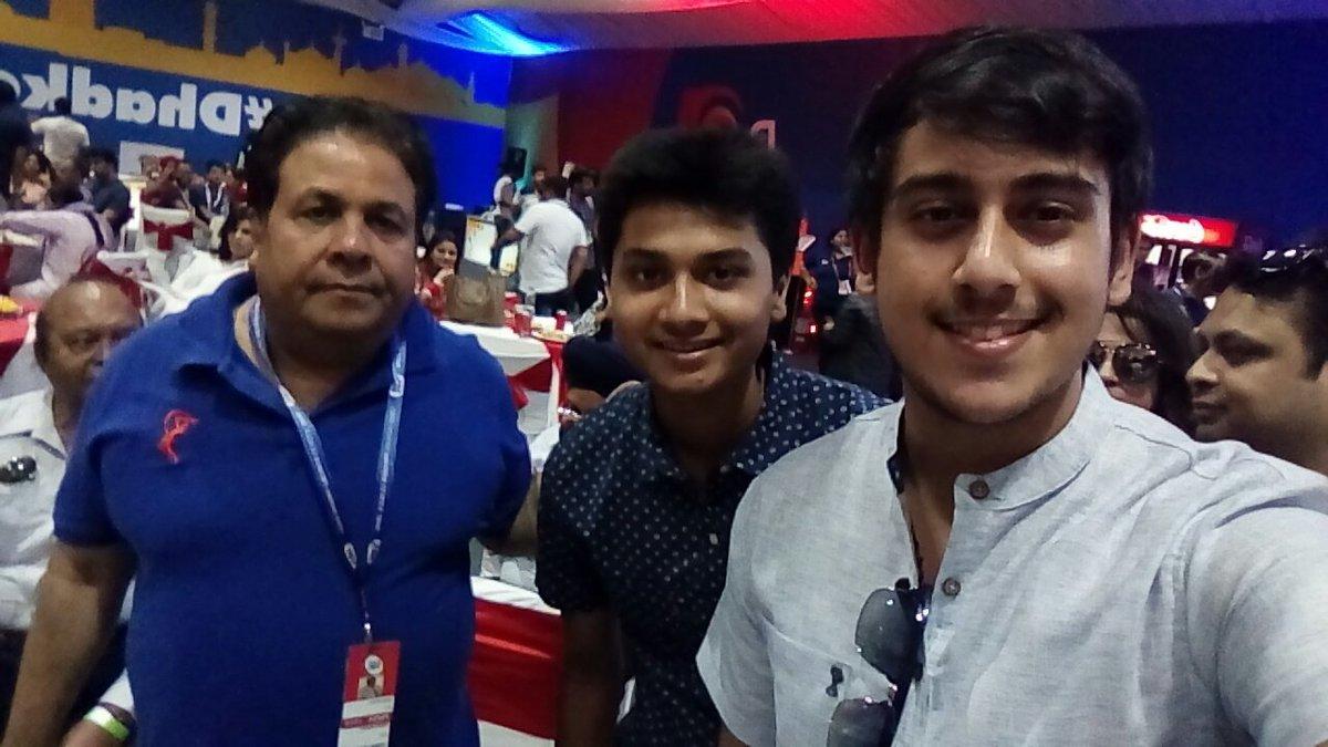 Abhinandan Kaul With IPL Chairman Rajiv Shukla