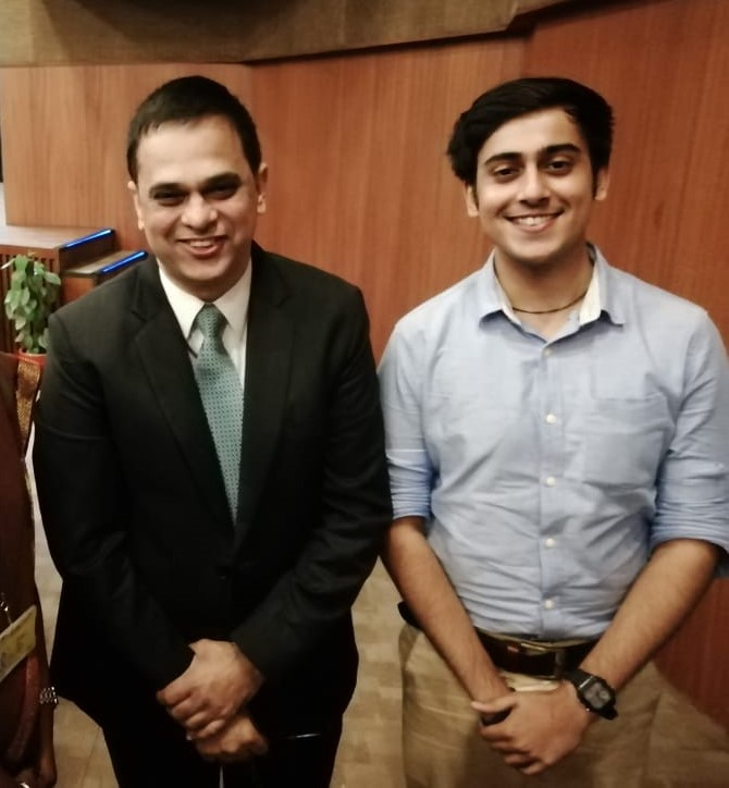 Abhinandan Kaul With IAS Officer V. Srinivas At His Book Launch