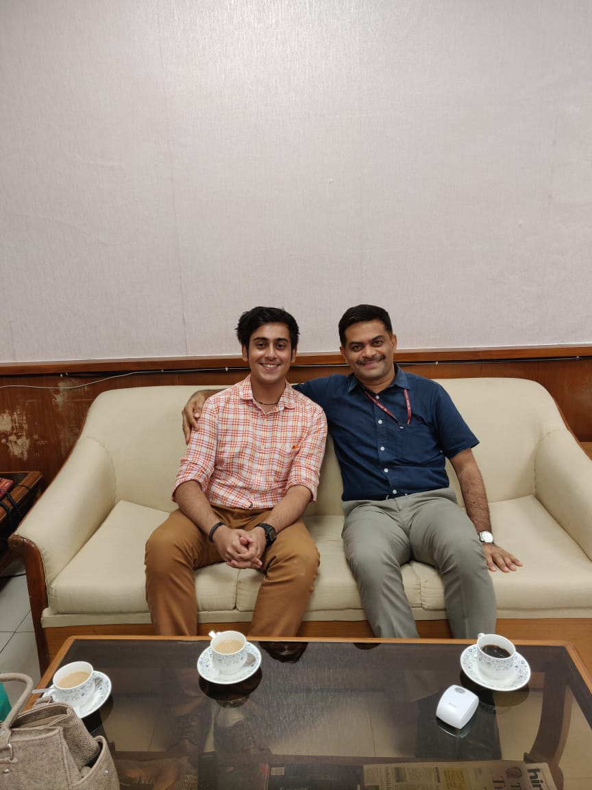 Abhinandan Kaul With IAS Officer N. Sarvana Kumar In Office