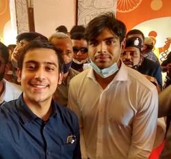 Abhinandan Kaul with Legendary Olympian Neeraj Chopra