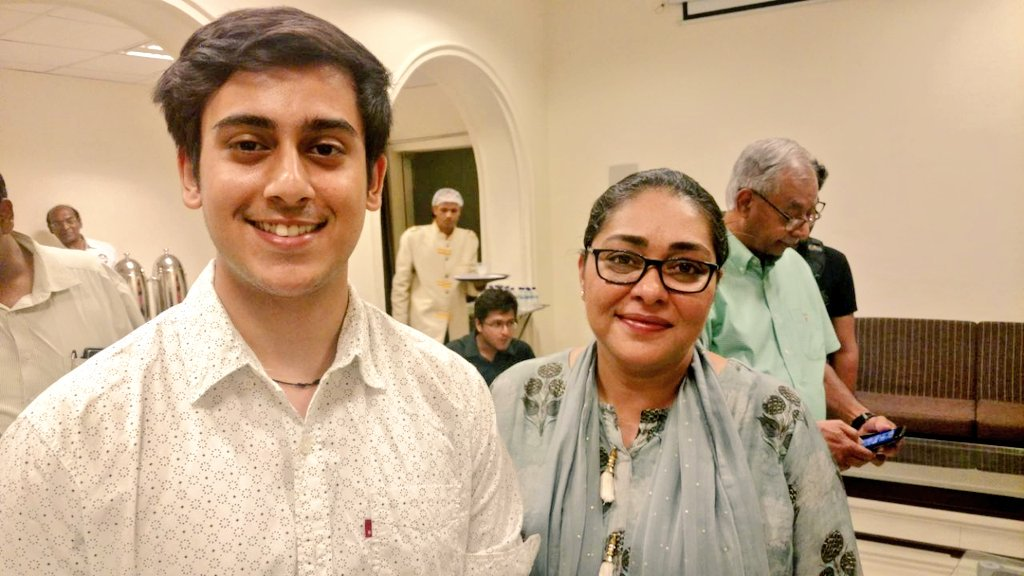 Abhinandan Kaul With Film Director Meghna Gulzar At The Special Screening Of Her Movie Raazi