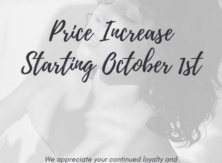 2020 Price Increase
