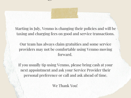 Changes to Venmo