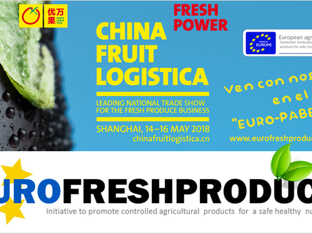 Con Eurofreshproduce  a la                  China Fruit Logistica en SHANGHAI
