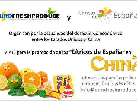 EUROFRESHPRODUCE y CITRICOS DE ESPAÑA organizan Viaje de promoción a China