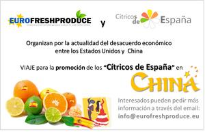 Viaje de Promocion del Citrico Español a China.  Naranjas Limones y Pomelos de España