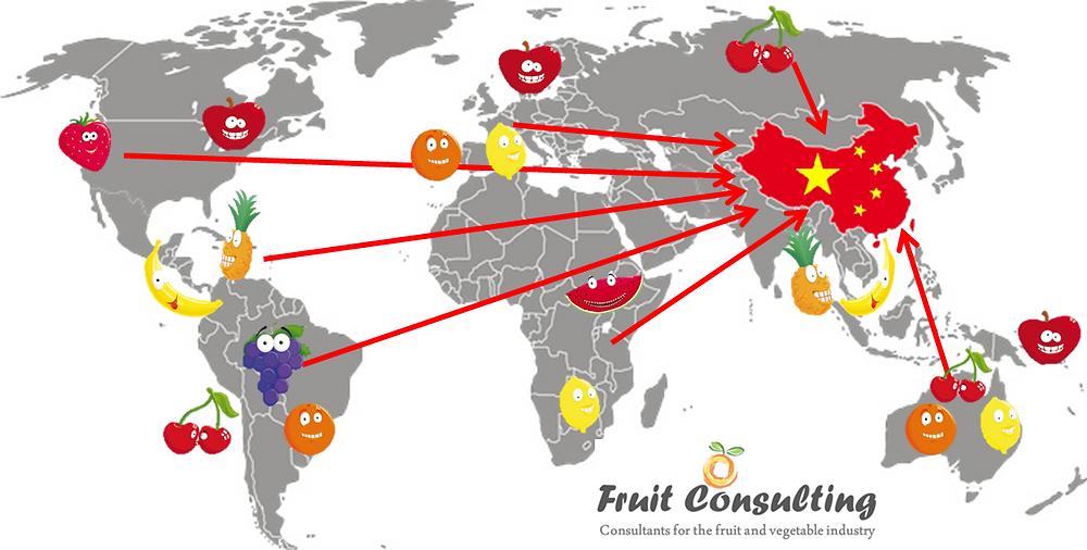 Listado de frutas permitidas  para la exportación a China
