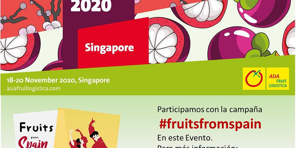 Promoción FRUTAS DE ESPAÑA en Asia Fruit Logistica Singapore