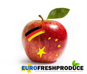 Deutscher Apfel in China,  Der Markt in Asien sucht dringend sichere Lebensmittel.
