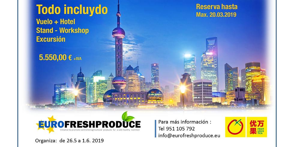 Pavillon Fruta de España en China Fruit Logistica Shanghai 2019 ( Para Expositores)