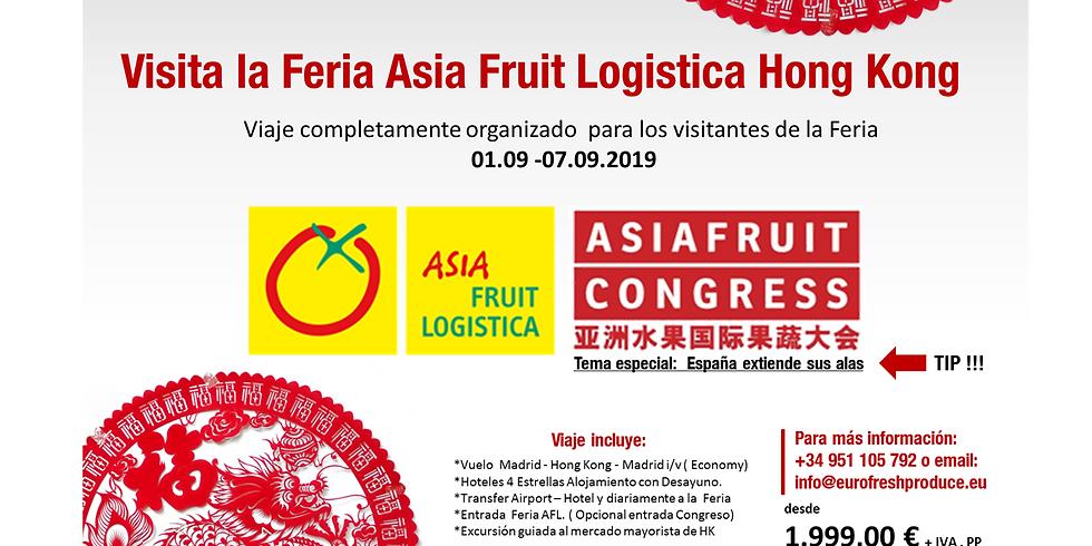Visita Asia Fruit Logistica y Congreso AFC Hong Kong
