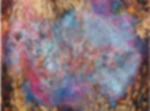 Rosa Bloom, Wood Panel, Encaustic, 4' x
