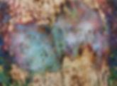 Blue Bloom, Wood Panel, Encaustic, 4' x