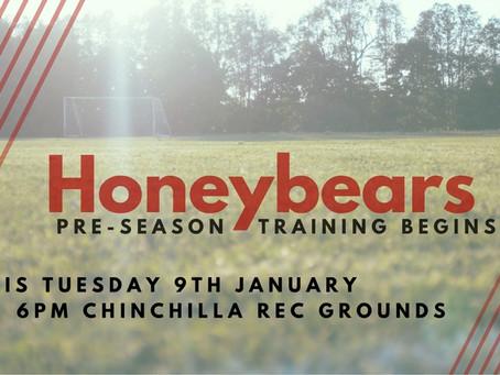 Honeybears Pre-season Begins