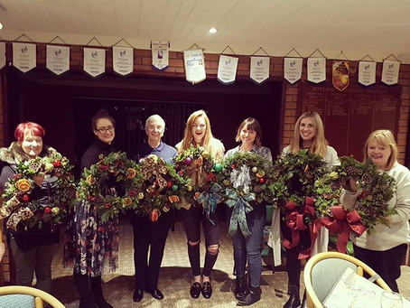 Christmas wreath workshop success - We're in full on Christmas swing