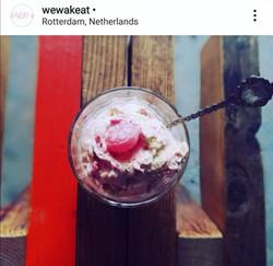 Simple Pink miso ice-cream