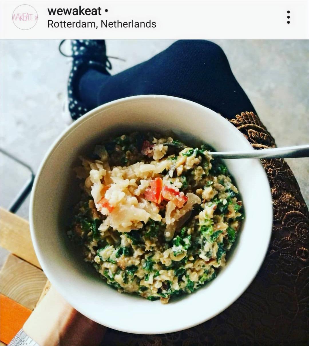 Easy-peasy JP style savory oats porridge