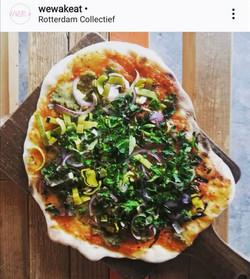 Miso vegan pizza