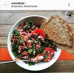 Kale boerenkool x anything winter-messy-salad with miso kimuchi