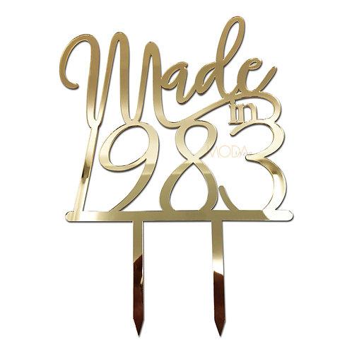 Pleksi Pasta Süsü - made in doğum yılı