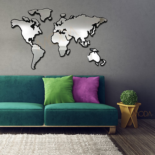 Dünya Haritası Tablo Ayna