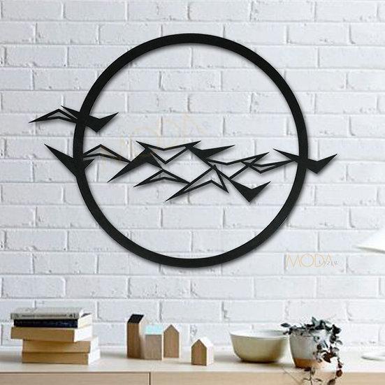 Kuşlar Ahşap Tablo 40x30cm