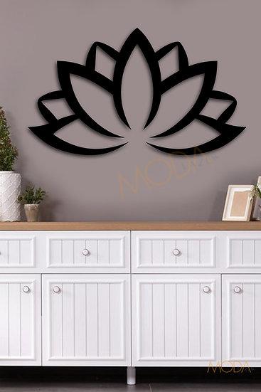 Lotus Çiçeği Ahşap Tablo 36x21 cm