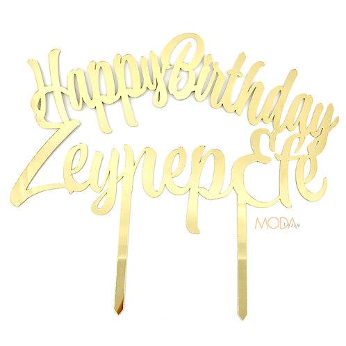 Pleksi Pasta Süsü - Happy Birthday