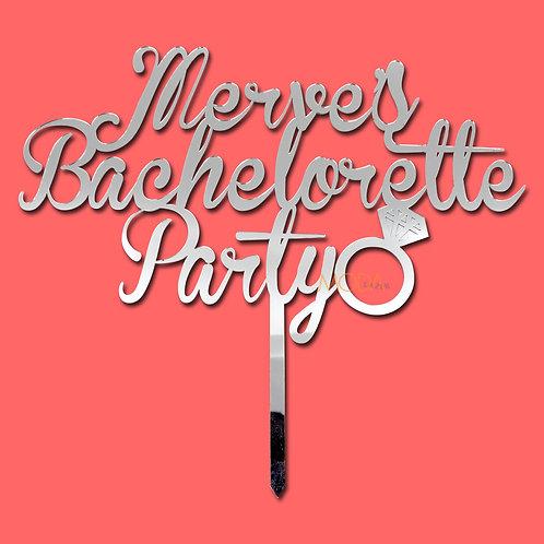 Bachelorette - Bekarlığa veda pasta süsü