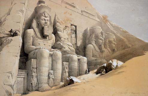 David Robert, Egitto; litografia Louis Haghe, 1838