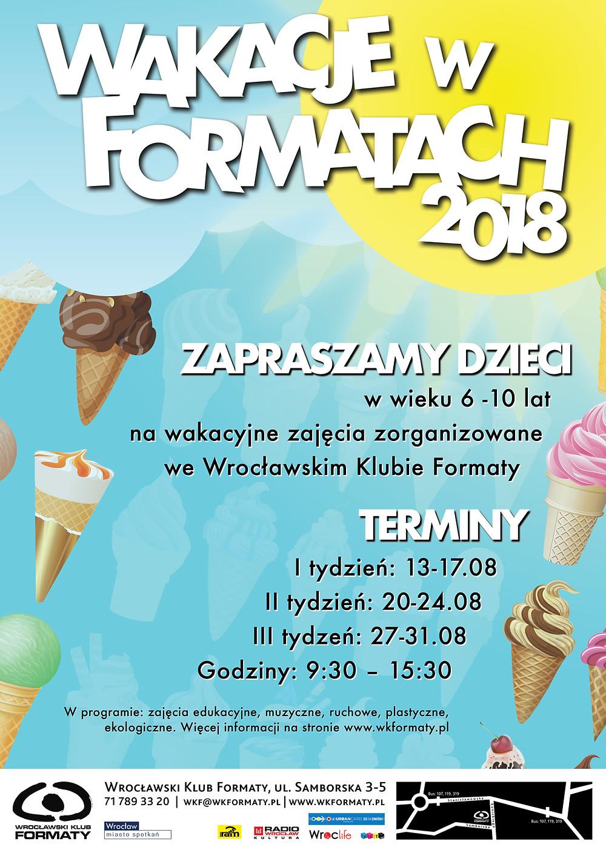 Wakacje w Formatach 2018 - atrakcyjne zajęcia zorganizowane.