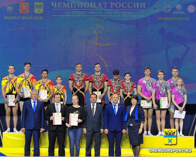 Чемпионат России по спортивной акробатике в городе Оренбург
