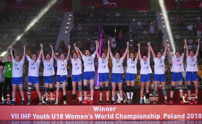 Женская сборная России по гандболу U-18 -Чемпион Мира !!!