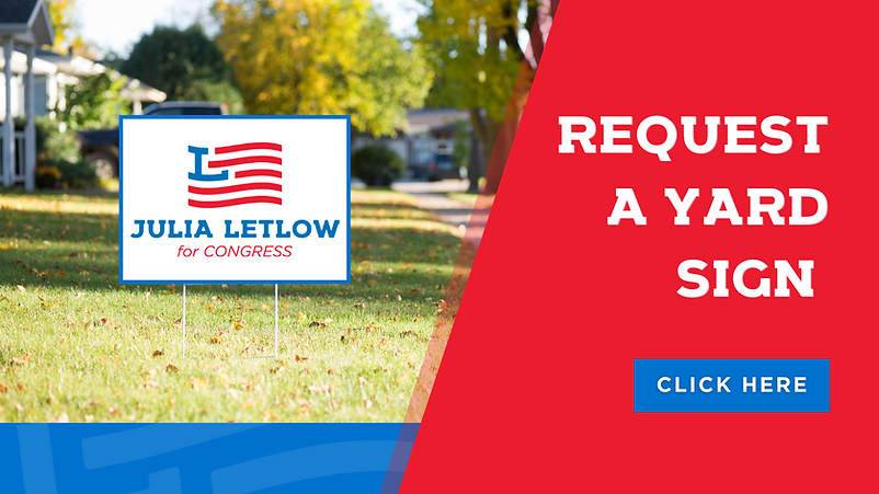 JULIA LETLOW REQUEST A YARD SIGN