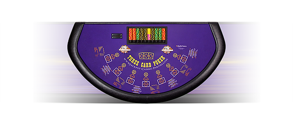 Three Card poker casino table rentals