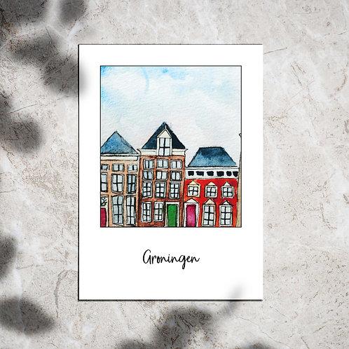 Ansichtkaart 'Groningen Lage der Aa'