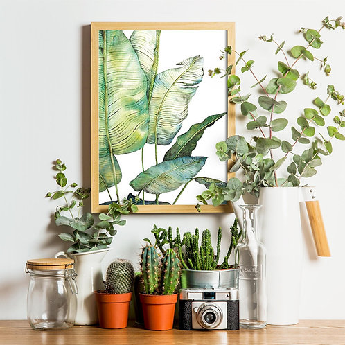 Art Print -Bananen bladeren
