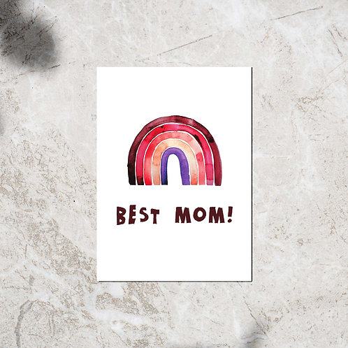 Ansichtkaart 'Best mom!'