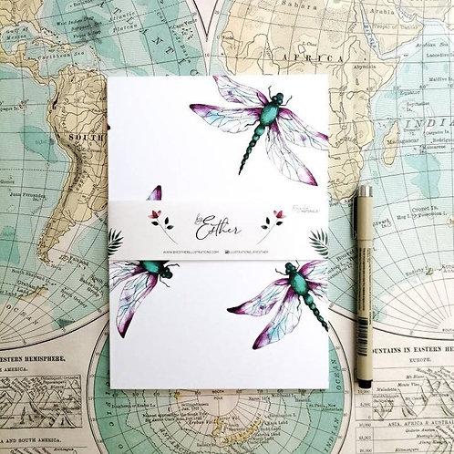 Notitieboek van gerecycled papier - Dragonfly