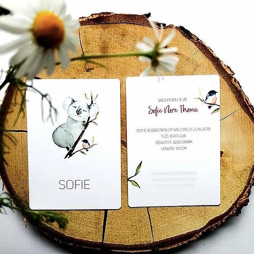 Geboortekaart - Sofie