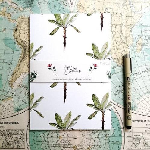 Notitieboek van gerecycled papier -Bananatree