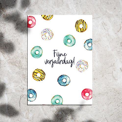 Ansichtkaart 'Fijne verjaardag!'
