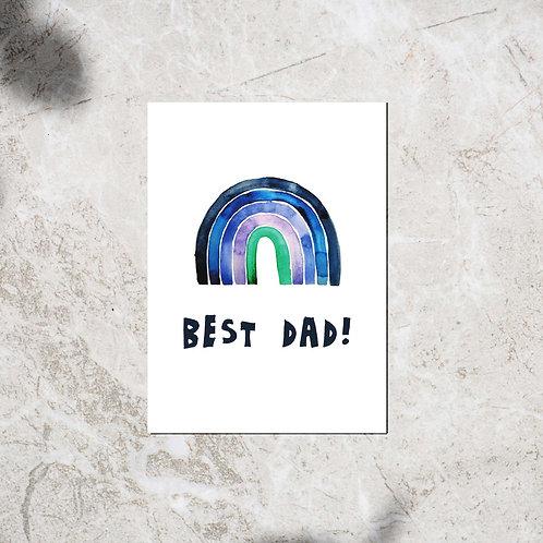 Ansichtkaart 'Best dad!'
