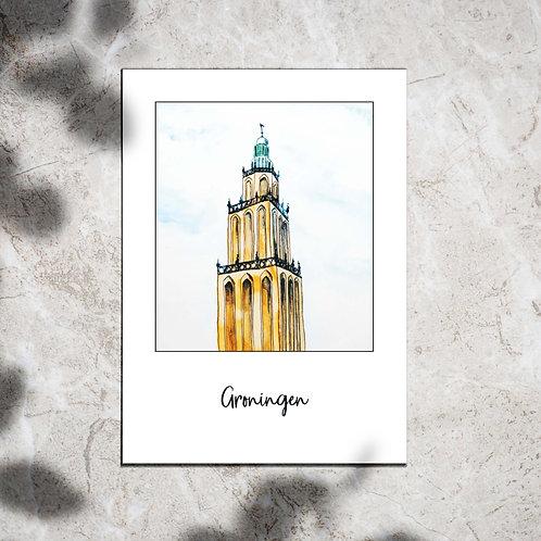 Ansichtkaart 'Groningen Martinitoren'
