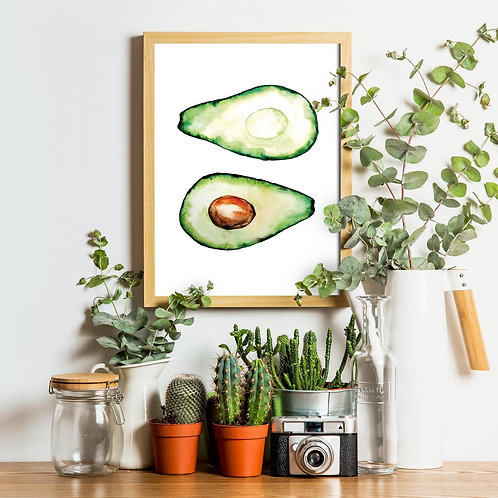 Art Print -Avocado